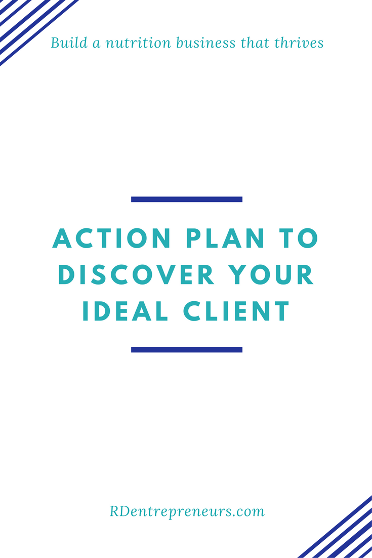 Action plan to discover your ideal client