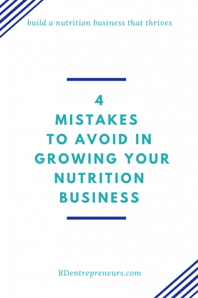 4 mistakes to avoid when growing your nutrition business