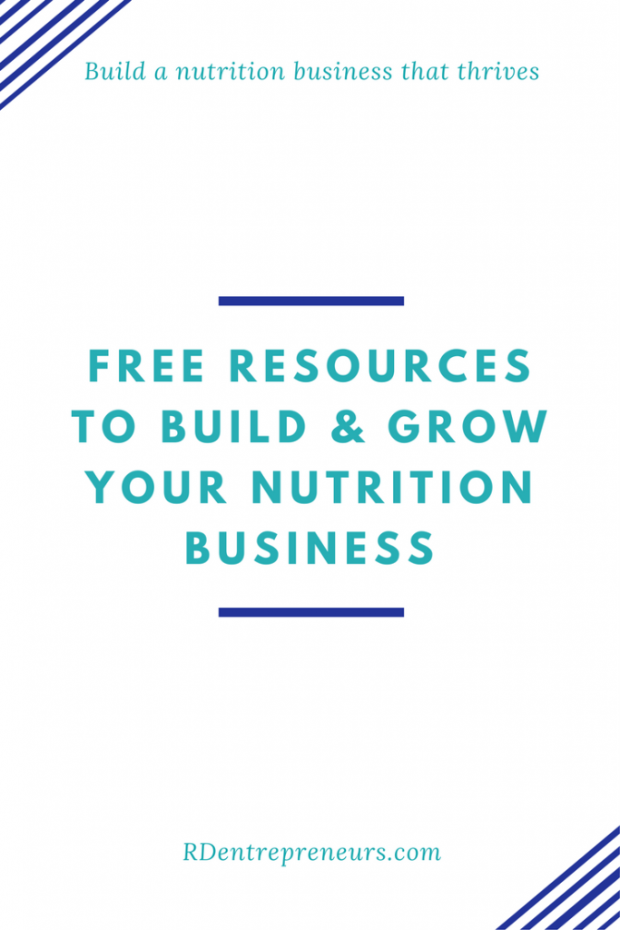 Free resources to build and grow your nutrition business