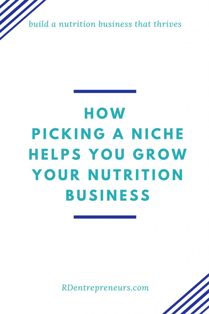 How to find your niche to grow your nutrition business
