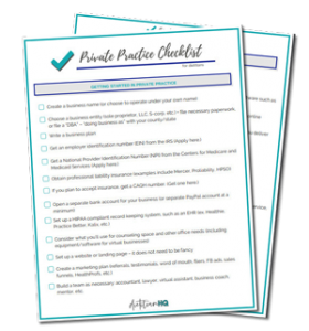 private practice checklist for dietitians to help with starting your own nutrition private practice