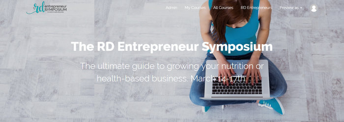 Teachable course sales page for nutrition entrepreneurs