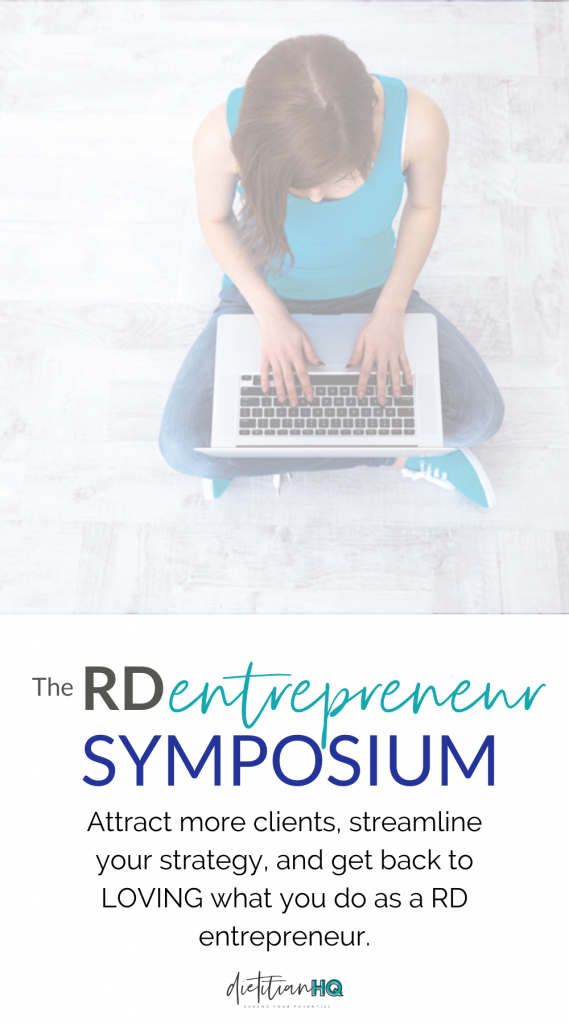 RD entrepreneur symposium for dietitian entrepreneurs